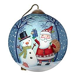 Ne'Qwa Art® The Gift of Friendship Santa 2.5-Inch Hand-Painted Ornament
