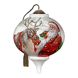 Ne'Qwa Art® Santa's Christmas Treats Santa 3-Inch Hand-Painted Ornament