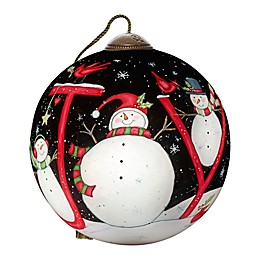 Ne'Qwa Art® Season Of Joy Snowman 2.5-Inch Hand-Painted Ornament