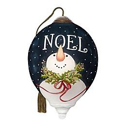 Ne'Qwa Art® Noel Snowman 3-Inch Hand-Painted Ornament
