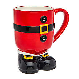Godinger Santa with Feet Holiday Mug in Red