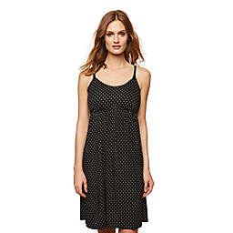 Motherhood Maternity® Small Dot Essential Nursing Nightgown in Black