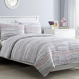 VCNY Home Marble Duvet Cover Set