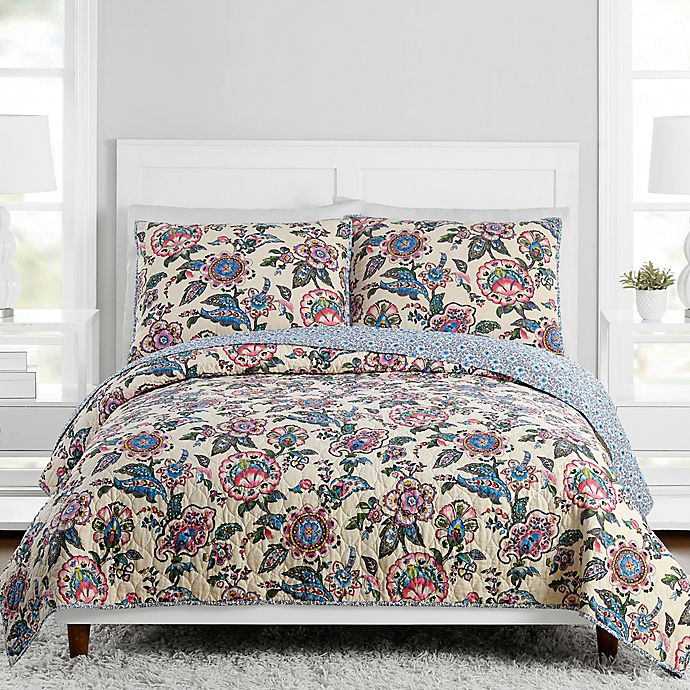 Alternate image 1 for Vera Bradley® Stitched Flowers Bedding Collection
