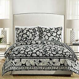 Vera Bradley® Makani Twin Quilt in Black/Off White