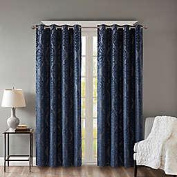 SunSmart Mirage Knitted Jacquard Damask Grommet 100% Blackout Window Curtain Panel (Single)