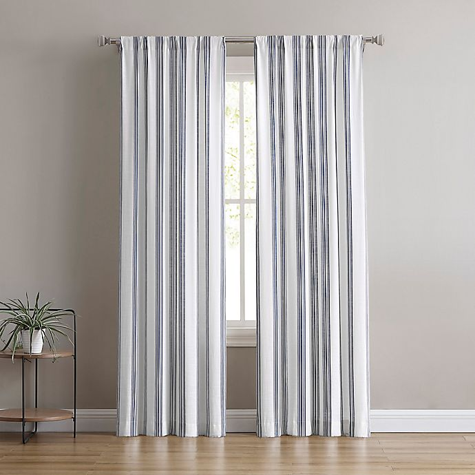 Alternate image 1 for Flannery 2-Pack Rod Pocket Light Filtering Window Curtain Panels