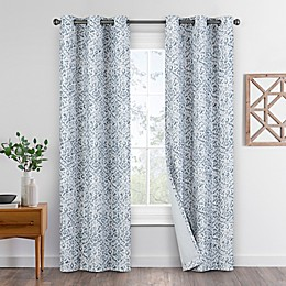Eclipse Pearson 2-Pack Grommet Blackout Window Curtain Panels