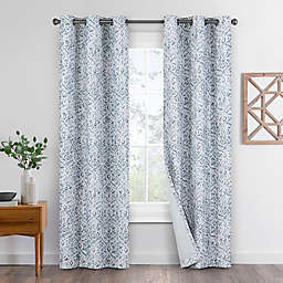 Eclipse Pearson 2-Pack Grommet 100% Blackout Window Curtain Panels