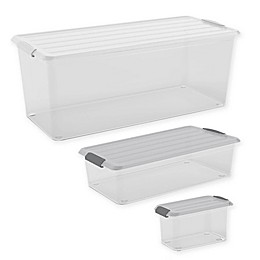 Curver® Latch Mates Storage Container with Lid in Clear/Grey