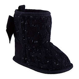 Stepping Stones Knit Boot in Black