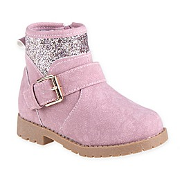 Stepping Stones Glitter Side Boot in Pink