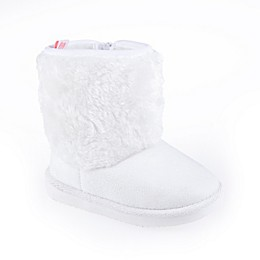 Stepping Stones Faux Fur Boot in White