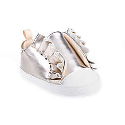 Stepping Stones Ruffle Casual Shoe in Champagne