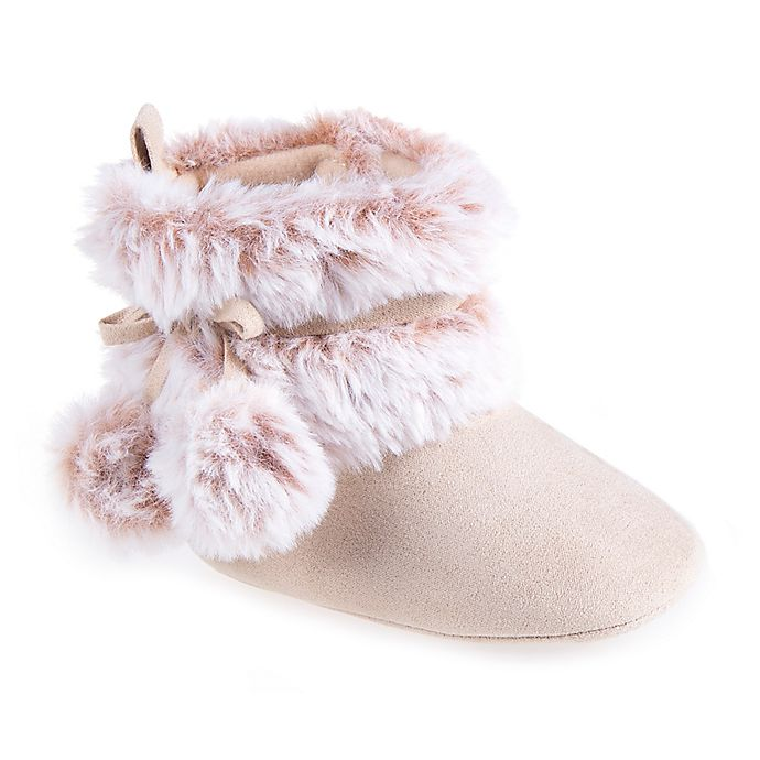 Alternate image 1 for Stepping Stones Pompom Faux Fur Boot in Chestnut