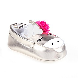 Stepping Stones Unicorn Slip-On Sneaker in Silver