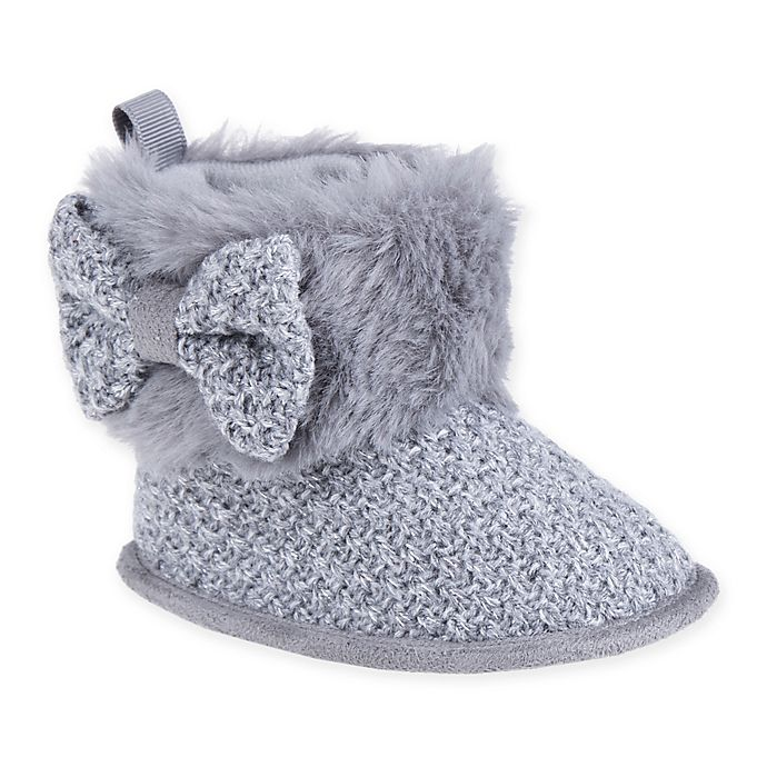 Alternate image 1 for Stepping Stones Faux Fur Knitted Boot in Charcoal