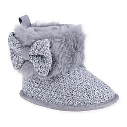 Stepping Stones Faux Fur Knitted Boot in Charcoal