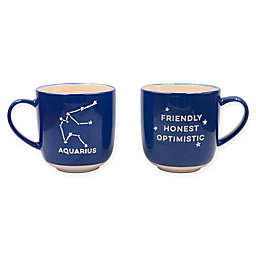 Formations Aquarius Zodiac Mug in Blue