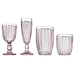 Godinger® Twill Wine & Bar Collection in Pink