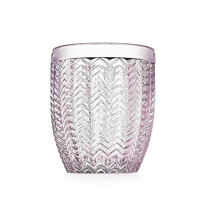 Alternate image 1 for Godinger® Twill Double Old Fashioned Glasses in Pink (Set of 4)