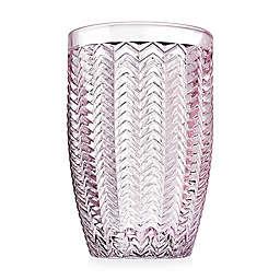 Godinger® Twill Highball Glasses in Pink (Set of 4)