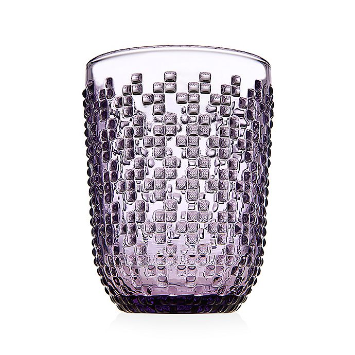 Alternate image 1 for Godinger® Alba Double Old Fashioned Glasses in Purple (Set of 4)