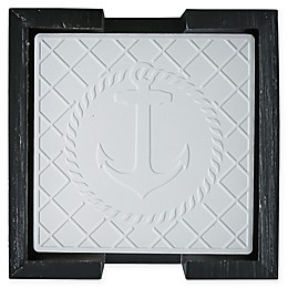Thirstystone® 5-Piece Embossed Anchor Coasters and Caddy Set