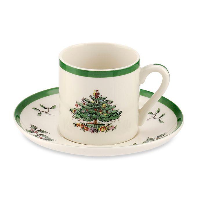 Alternate image 1 for Spode® Christmas Tree Espresso Cup and Saucer (Set of 4)