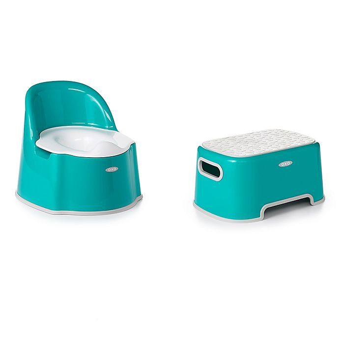 Alternate image 1 for OXO Tot® 2-Piece Potty Chair and Step Stool Set