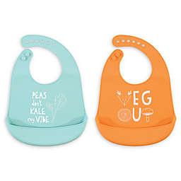 Hudson Baby® 2-Pack Silicone Bibs