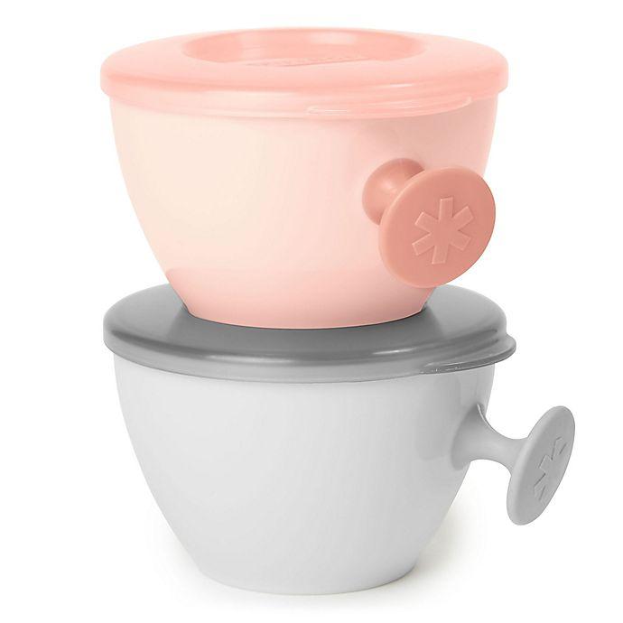 Alternate image 1 for SKIP*HOP® Easy Grab Bowls in Grey/Coral (Set of 2)