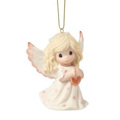 Precious Moments LED Angel with Violin Bisque Porcelain Hanging Ornament 181032
