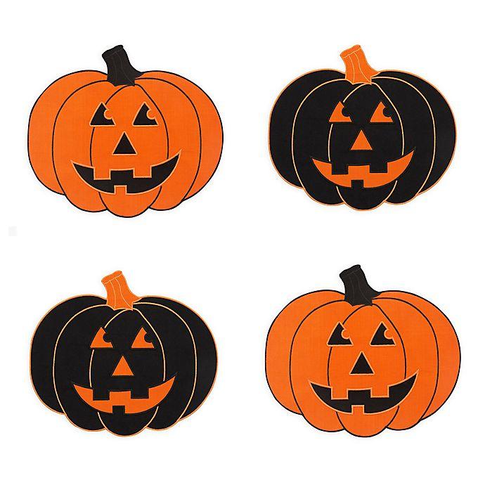 Alternate image 1 for Farmhouse Living Jack-O-Lantern Placemats in Black/Orange (Set of 4)