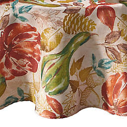 Elrene Home Fashions Gourd Gathering 70-Inch Round Tablecloth