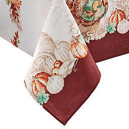Elrene Home Fashions Holiday Turkey 60-Inch x 120-Inch Tablecloth