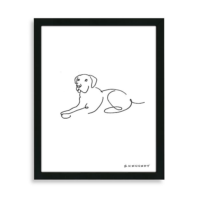 Framed Labrador Retriever Line Drawing  87c030b4e37cf
