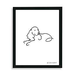 Spaniel Framed Line Drawing