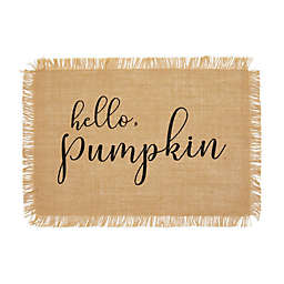 "Elrene Home Fashions ""Hello Pumpkin"" Farmhouse Placemats (Set of 4)"