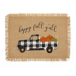 """Elrene Home Fashions """"Happy Fall Y'All"""" Farmhouse Placemats (Set of 4)"""