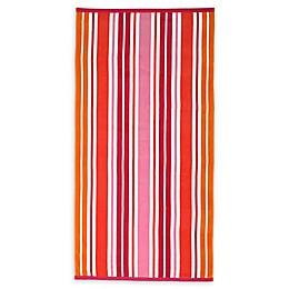 Destination Summer Sunny Isles Turkish Cotton Beach Towel in Warm Stripe