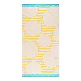 Destination Summer Lemon Slices Beach Towel in Yellow/Aqua