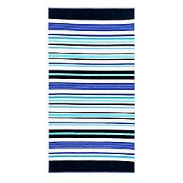 Destination Summer Murphy Stripe Beach Towel in Blue