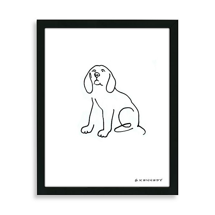 Alternate image 1 for Beagle Framed Line Drawing