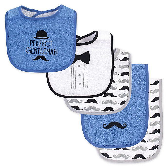 Alternate image 1 for Hudson Baby® 5-Piece Bib and Burp Cloth Set