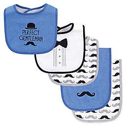 Hudson Baby® 5-Piece Bib and Burp Cloth Set