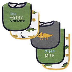 Hudson Baby® 5-Piece Messysaurus Bib and Burp Cloth Set