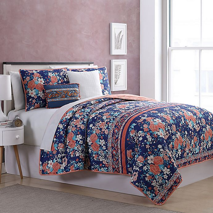Alternate image 1 for Portland 5-Piece Reversible Quilt Set