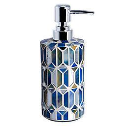 Hexagon Border Lotion Dispenser in Blue