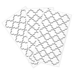 Moroccan Trellis 32-Count Paper Guest Towels in Silver